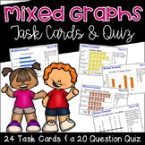 Graph Task Cards {Bar Graphs, Pictographs, and Line Plots}