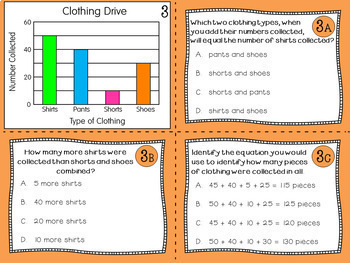 Graph Task Cards: Scaled Picture Graphs, Scaled Bar Graphs, and Line Plots