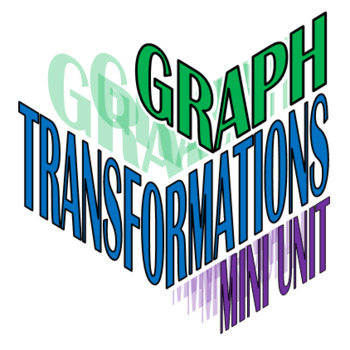 Graph Transformations Mini-Unit Resources (15 files)