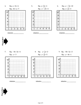 Graph & Write Systems of Equations (Graphically)