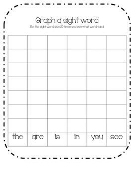 Graph a Sight Word (Beginning Kinder)
