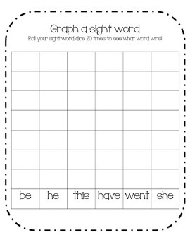 Graph a Sight Word (Middle Year Kinder)