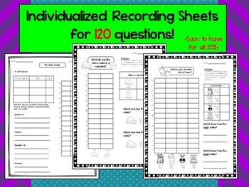 205 Graph Questions a Day (HALF PAGE) w/ 120 recording sheets