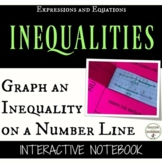 Graph an Inequality on a Number Line Interactive Notebook Pages