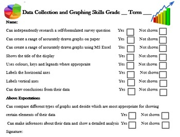 Graph and Data Assessment Checklist & Rubric