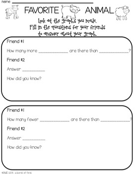 Graph and Laugh - Interviewing and Graphing with Friends (Common Core Aligned)
