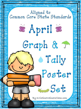 April Graph and Tally Poster Set: Spring Pictures
