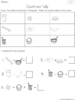 Graph and Tally Poster Set: Breakfast Pictures