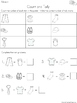 Graph and Tally Poster Set: Clothing Pictures
