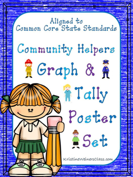 Graph and Tally Poster Set: Community Helpers Pictures