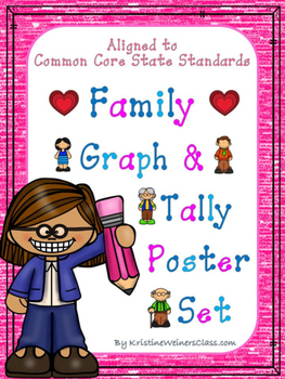 Graph and Tally Poster Set: Family Pictures