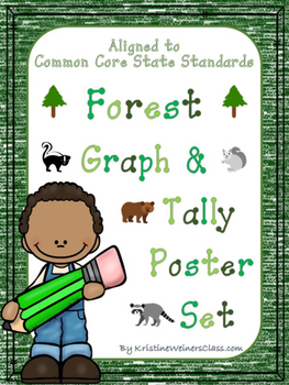Graph and Tally Poster Set: Forest Pictures