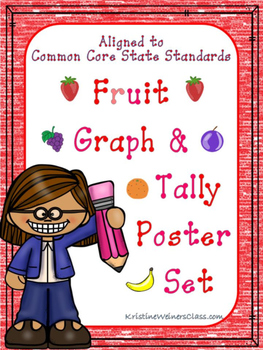 Graph and Tally Poster Set: Fruit Pictures