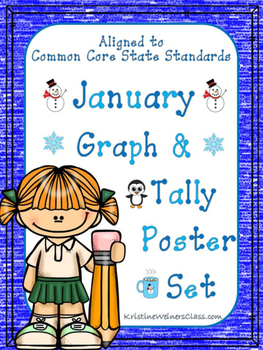 January Graph and Tally Poster Set: Winter Pictures