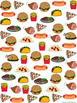 Graph and Tally Poster Set: Lunch and Dinner Pictures