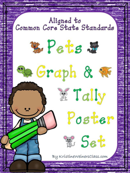 Graph and Tally Poster Set: Pet Pictures