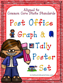 Graph and Tally Poster Set: Post Office Pictures