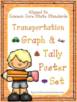 Graph and Tally Poster Set: Transportation Pictures