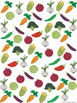 Graph and Tally Poster Set: Vegetable Words
