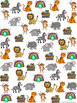 Graph and Tally Poster Set: Zoo Pictures