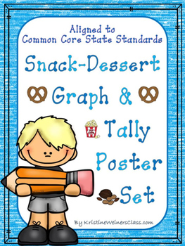 Graph and tally Poster Set: Snack Pictures