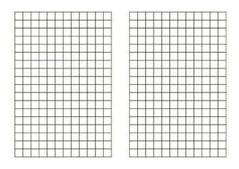 Graph paper A4 half-page square cm