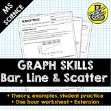 Graphs worksheet - bar, line and scatter