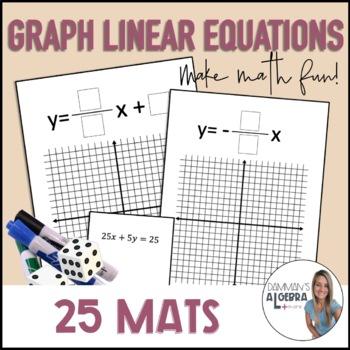 Graph slope intercept form roll mats