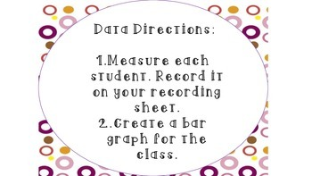 Graph the Class- A measurement and data activity