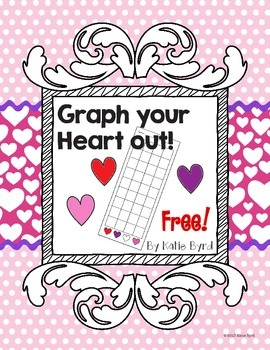 FREEBIE!  Graph your Heart out!  Valentine heart graph