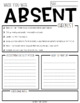 Graphic Absent Notes - While You Were Absent