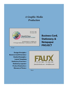 Business Card, Stationery, & Notepaper ~ Project