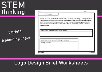 Graphic Art Logo Design Brief Worksheets