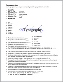 Typography Quiz & Answer Sheet