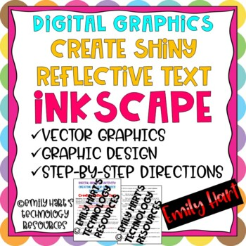Graphic Design Activity - Creating Reflective Text in Vector Graphics Program