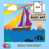 Graphic Design Adobe Illustrator CC Boat Illustration for High School