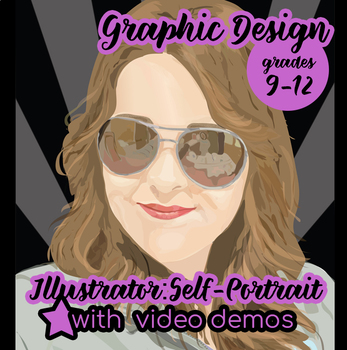 Graphic Design - Adobe Illustrator Portraits with VIDEO demonstration