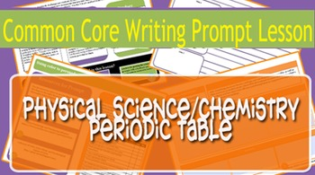 Physical Science/Chemistry Common Core Prompt - Periodic T