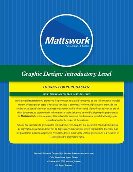 Graphic Design Level 1: Mark Making