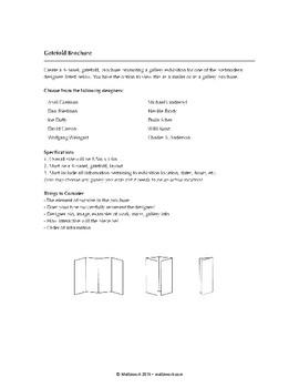 Graphic Design Level 3: Gatefold Brochure