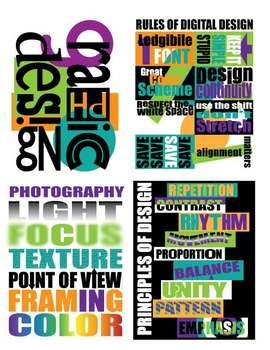 Graphic Design Poster Set