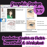 Graphic Design - Resolution; Powerpoint & Worksheet