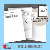 Graphic Design Typography Worksheets