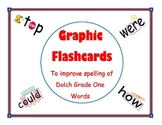 Graphic Flashcards for Dolch Grade One Words