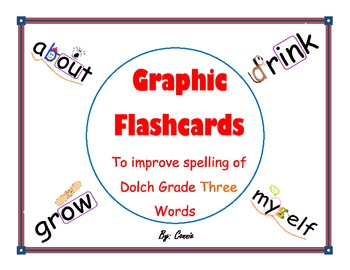 Graphic Flashcards for Dolch Grade Three Words