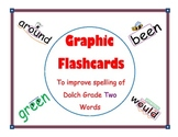 Graphic Flashcards for Dolch Grade Two Words