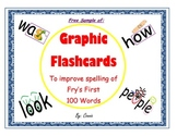 Graphic Flashcards to Improve Spelling of Fry's First 100