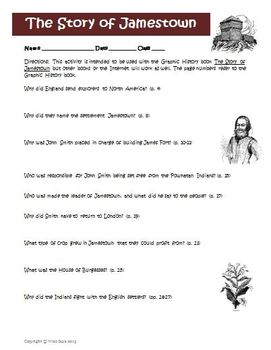 Graphic History: Jamestown John Smith Activity and Answer Key