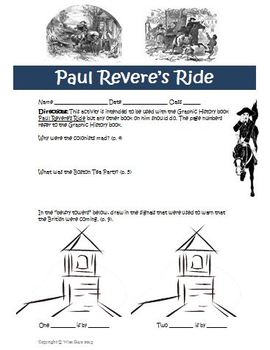 Graphic History Paul Revere's Ride Revolutionary War Activity