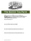 Graphic History The Boston Tea Party Activity and Answer Key